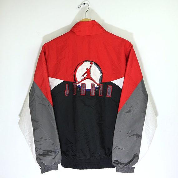 Athletic Jacket 90/'s Fashion Vintage Jacket 80/'s XL Colorful Windbreaker