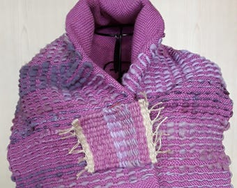 Purple shawl-lilac woven by hand