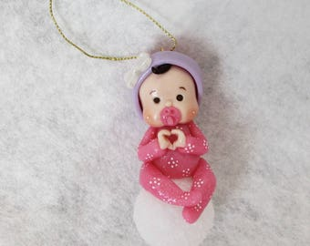 Hanging Christmas tree to Bowl customizable cold porcelain baby