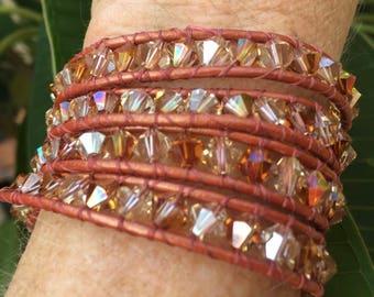 Swarovski Copper Wrap Bracelet