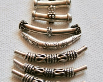 Pendants - Sterling Silver (Hill Tribe) Curves 18-33mm - 8 pieces