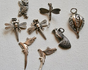 Pendants - Sterling Silver Flying Things 22-33mm - 8 pieces