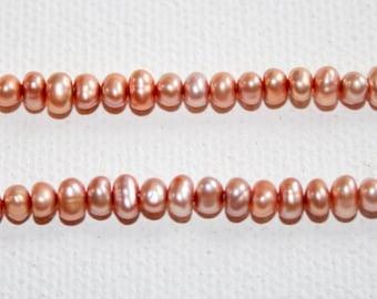 Pearls - Copper Potato 4mm