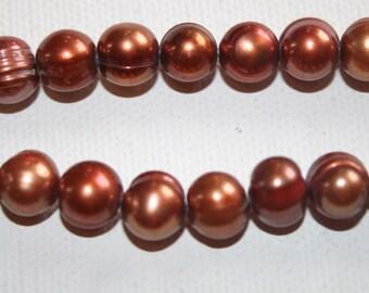 Pearls - Copper Round 8mm
