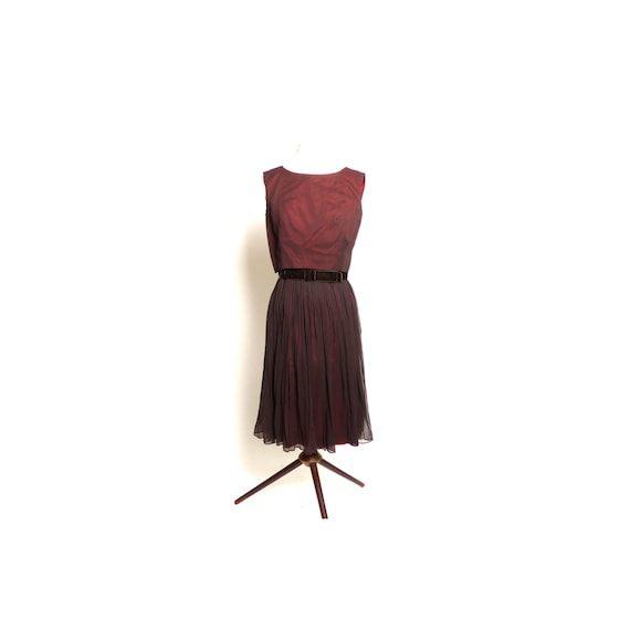 Circa 1950s L'Aiglon Chocolaté Brown Party Dress