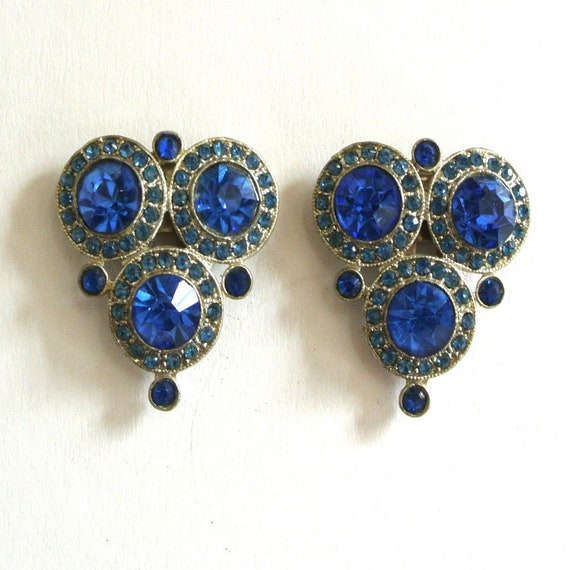 Cobalt Blue Circular/Triangular Decorative Dress C