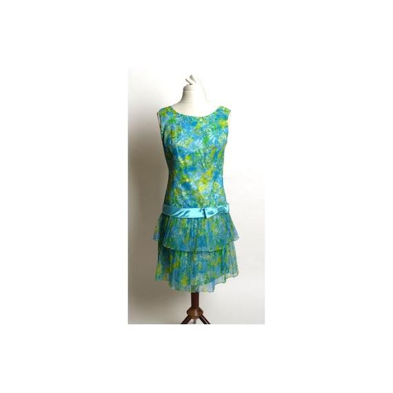 Circa 1980s Custom-Made Floral Mini-Dress