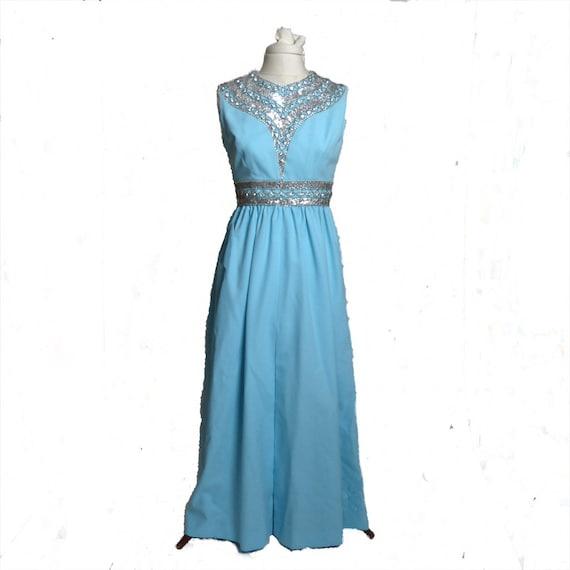Circa 1950s/1960s Ceil Chapman Blue Rhinestone Se… - image 5
