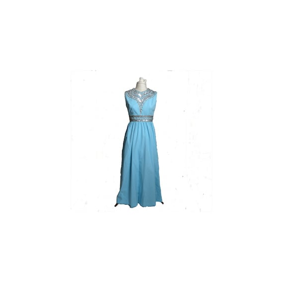Circa 1950s/1960s Ceil Chapman Blue Rhinestone Se… - image 1