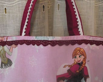 "Tote bag pink ""Of the snow Queen"""