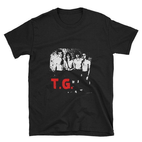 Throbbing Gristle limited edition black tribute t-shirt topless