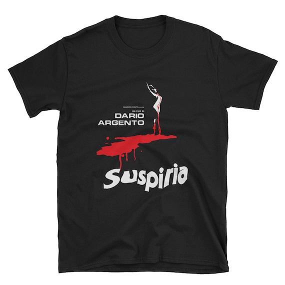 limited edition black tribute t-shirt Dario Argento Suspiria 1977 film poster