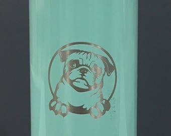 The Pug Life Water Bottle