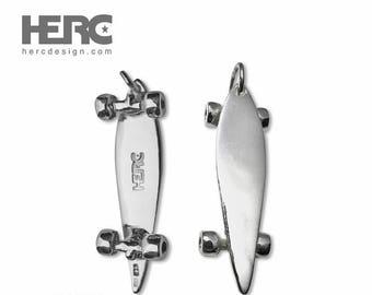 longboard medium pendant sterling silver