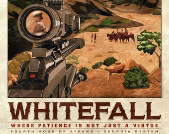 Firefly Whitefall Travel Poster (WuXing Travel Agency series) • Traveling the 'Verse with Browncoats & Serenity • Now in 2 Sizes!