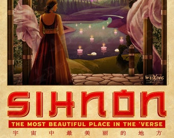 Firefly Sihnon Travel Poster (WuXing Travel Agency series) • Traveling the 'Verse with Browncoats & Serenity • Now in 2 Sizes!