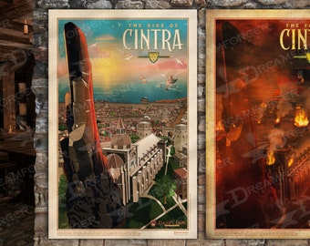 The Rise & Fall of Cintra - 11 x 17 Witcher Travel Poster Bundle (Dandy Lion Excursions series) • Explore the Northern Kingdoms!
