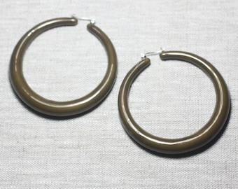 Earrings resin CCB Brown rings hoop earrings - ethnic Vintage french designer - 65mm 8741140026360 circles