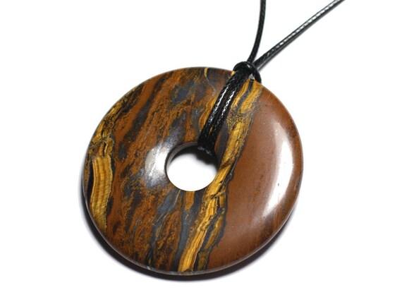 40mm diameter Brown Donut 4 x Wooden Pendants