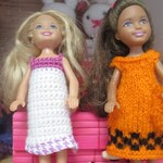 set of 6 Chelsea Tamika doll clothes