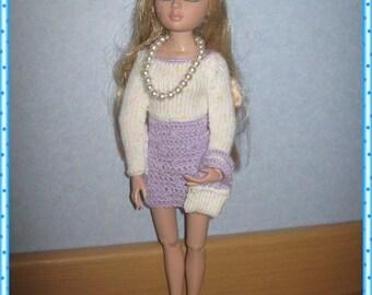 fiche patron  explication tuto crochet tricot pour poupée Ellowyne