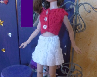 doll, skirt and top for model 40 cm Tonner Ellowyne clothes