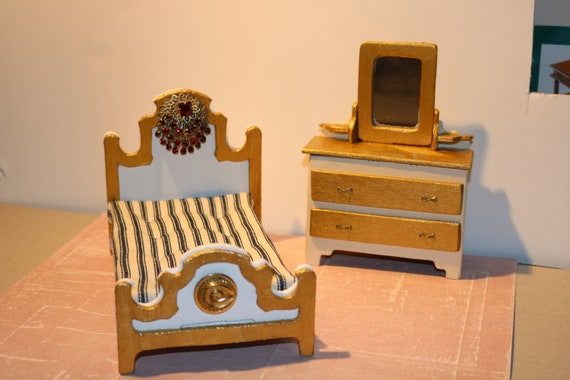 Miniature Bedroom Furniture 1 12 Scale Etsy