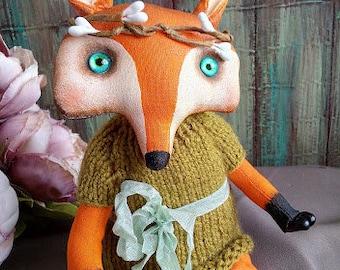 Fox interior artist's toy