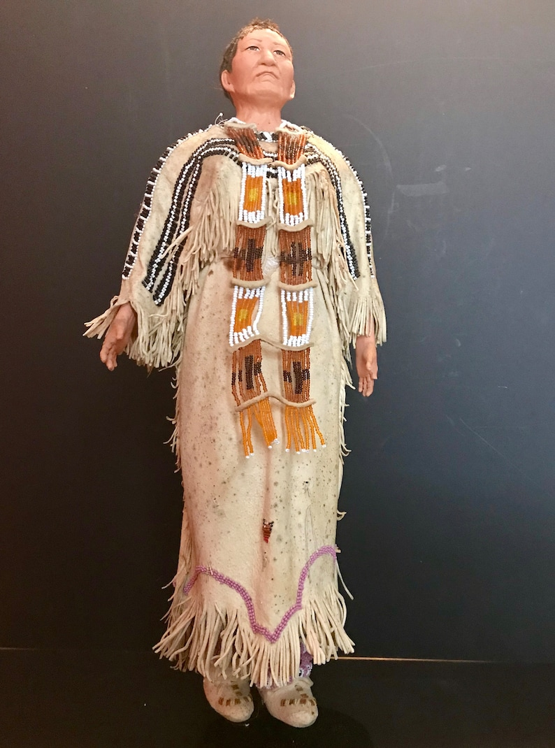 Native American Indian Doll With Traditional Lakota Sioux Etsy