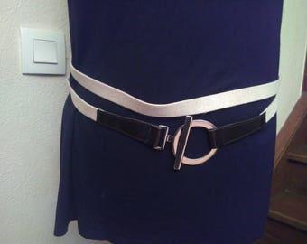 Cream colored linen belt