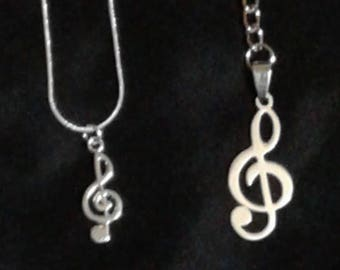 Music Note Necklace and Keychain