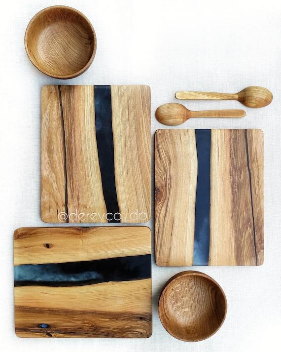 Epoxy wood cutting board River Epoxy cutting Kitchen supplies Epoxy resin  board Resin and wood river