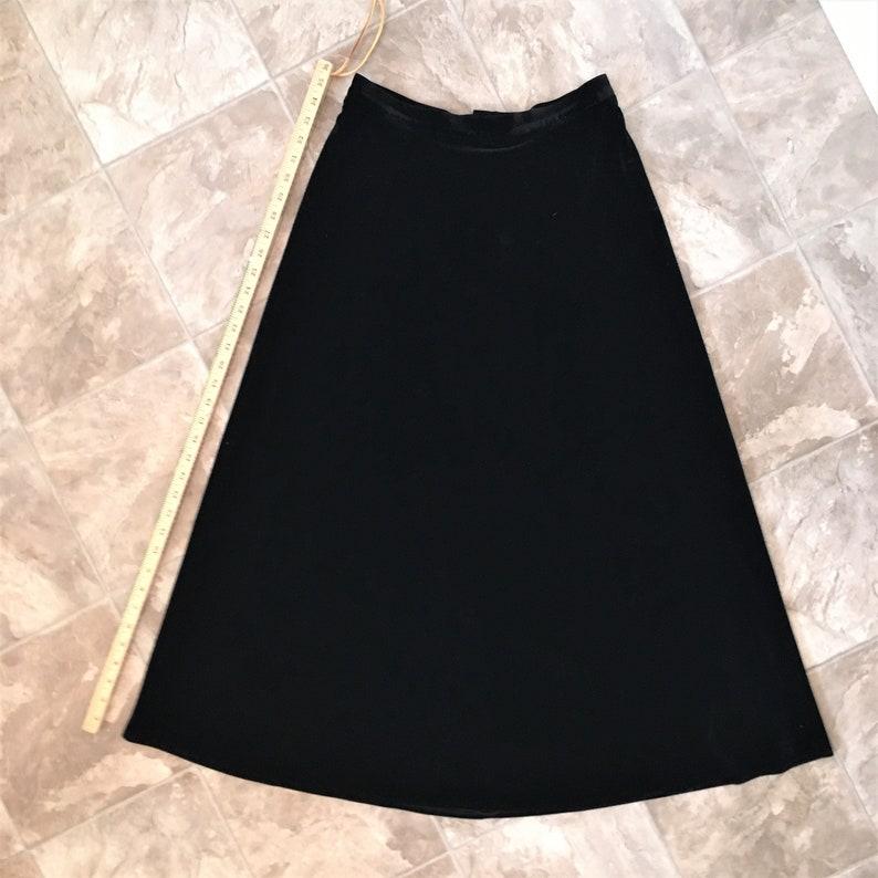 80s90s Black Velvet Maxi Swingy SkirtA-lineBianca NygardSmall