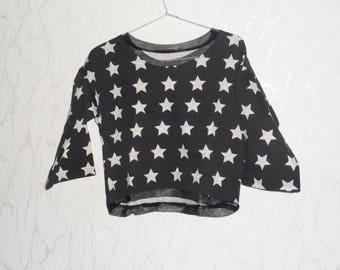 Black and white fleece sweater
