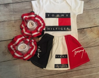 fb6f54f5 Girls custom Tommy Inspired Outfit