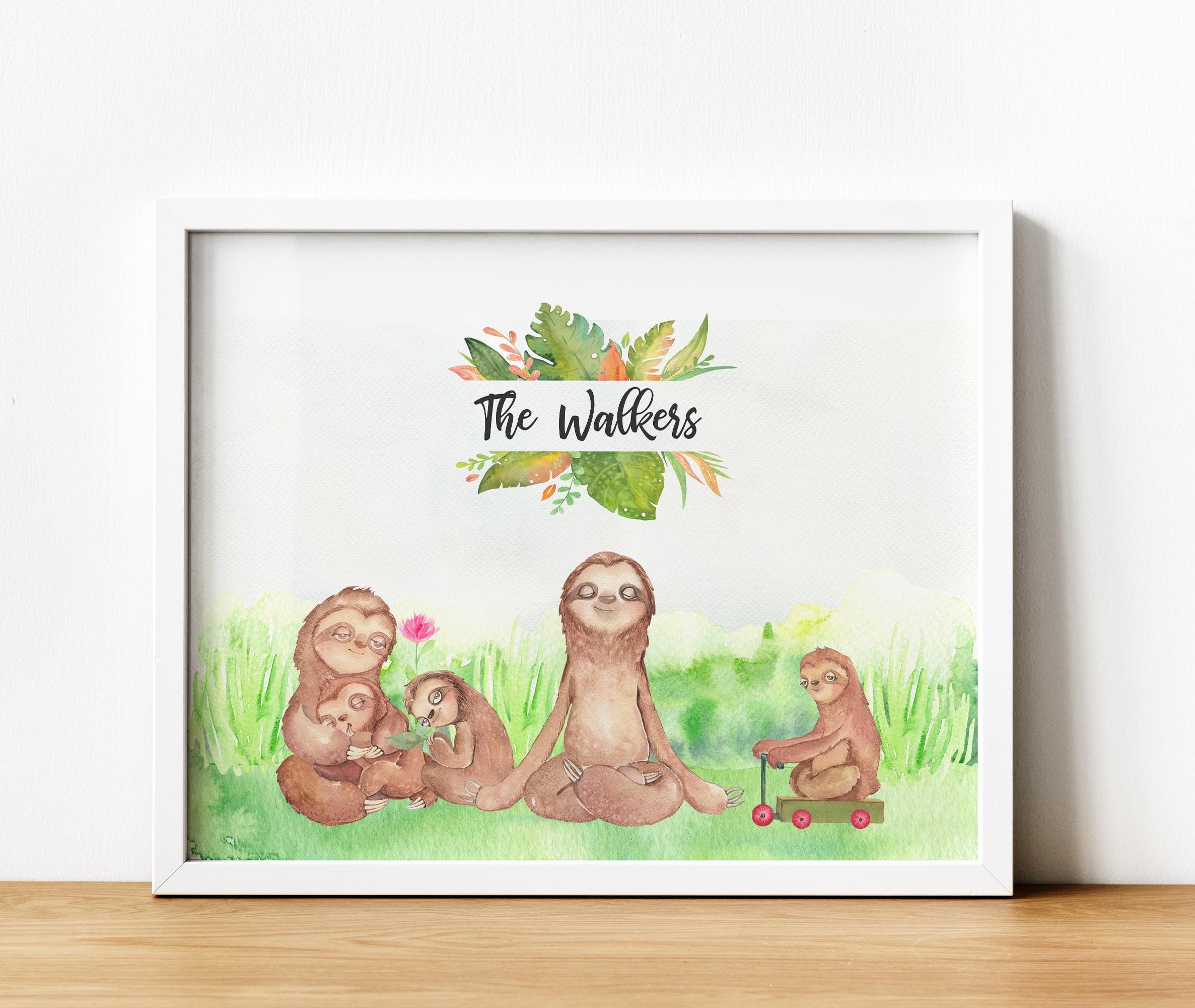 Gift Present Wall Art Keepsake Personalised Family Names Photo Print