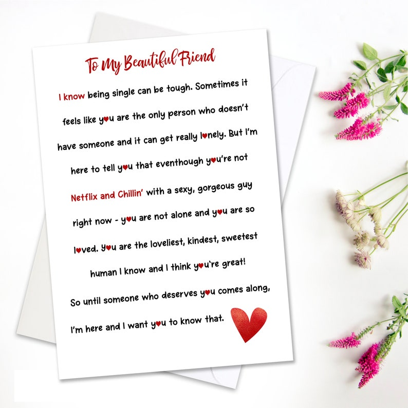 Inspirational Friendship Greeting Card, Card For Best Friend, Galentines  Break Up Card, Best Friend Just Because Card