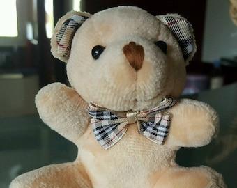 Teddy bear Keychain plush Tartan