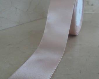 1 meter of 40 mm powder pink satin ribbon