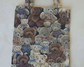 """vintage Teddy bear"" collection tote bag 32 x 42 cm"
