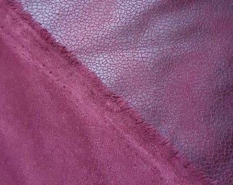 faux suede leather 25 x 150 cm