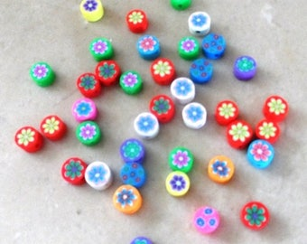 set of 40 flowers 6 mm beads