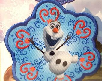 1 applique Olaf frozen Queen patch