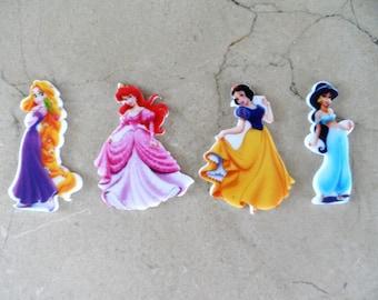 "4 appliques to paste ""The Princess"" 45 mm"