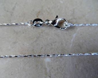 fine Sterling Silver 925 chain width: 1 mm + 1 certificate of authenticity