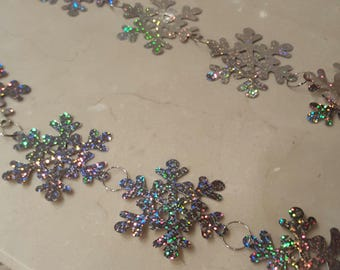 1 meter of lace snowflakes Garland