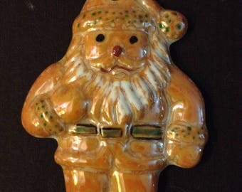 Santa Claus porcelain hanging decoration