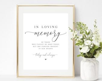 in loving memory wedding