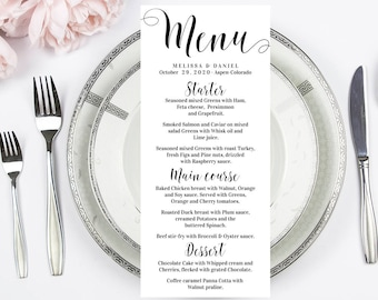 wedding menu template rustic menu template bridal shower menu editable wedding menu calligraphy menu cards dinner menu birthday menu pdf