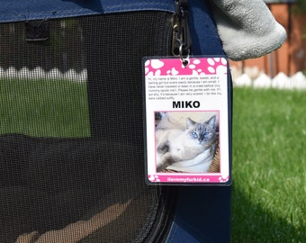 Kennel Tag/Kennel Sign/Travel Kennel Tag/Pet ID Tag/Crate Tag/Travel Crate Tag/Kennel Tags for Show Dogs/Kennel Tags for Show Cats